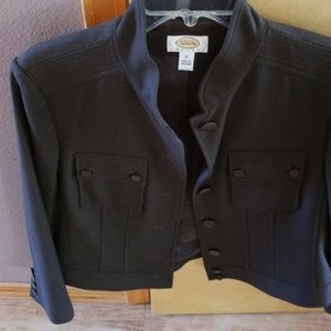 Brown button front jacket
